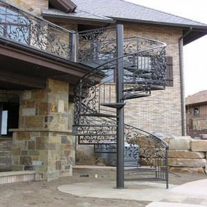 Decorative Classic Steel Spiral Staircase Outdoor Metal Staircase | Wrought Iron Stairs Outdoor | Early 19Th Century | Iron Handrail | Mild Steel | Porch | Steel
