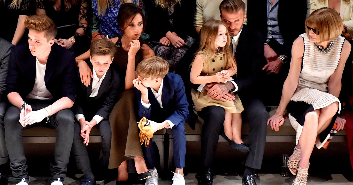 Victoria, David Beckham Sit Front Row at Burberry With ...