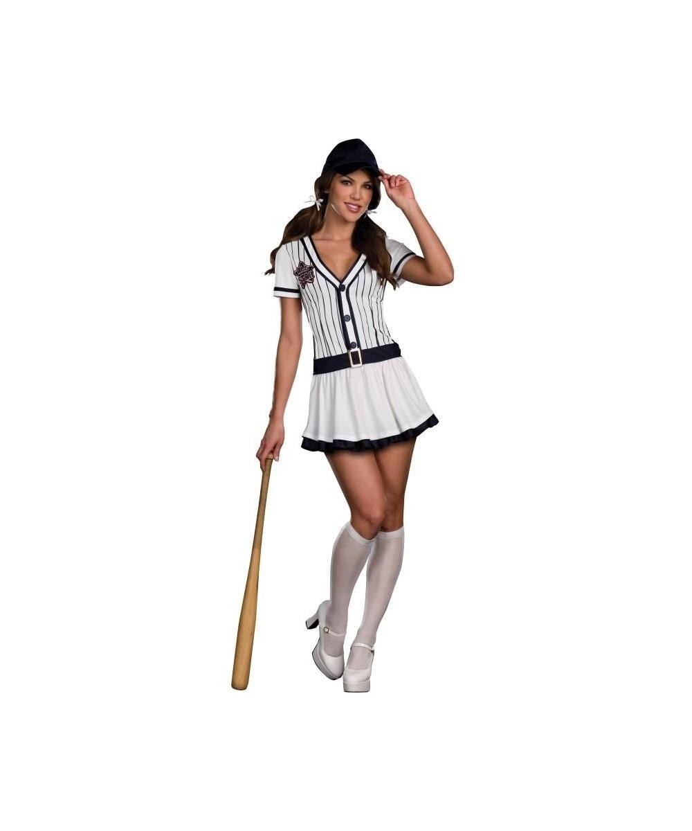 All Star Hottie Baseball Player Womens Costume - Sport ...