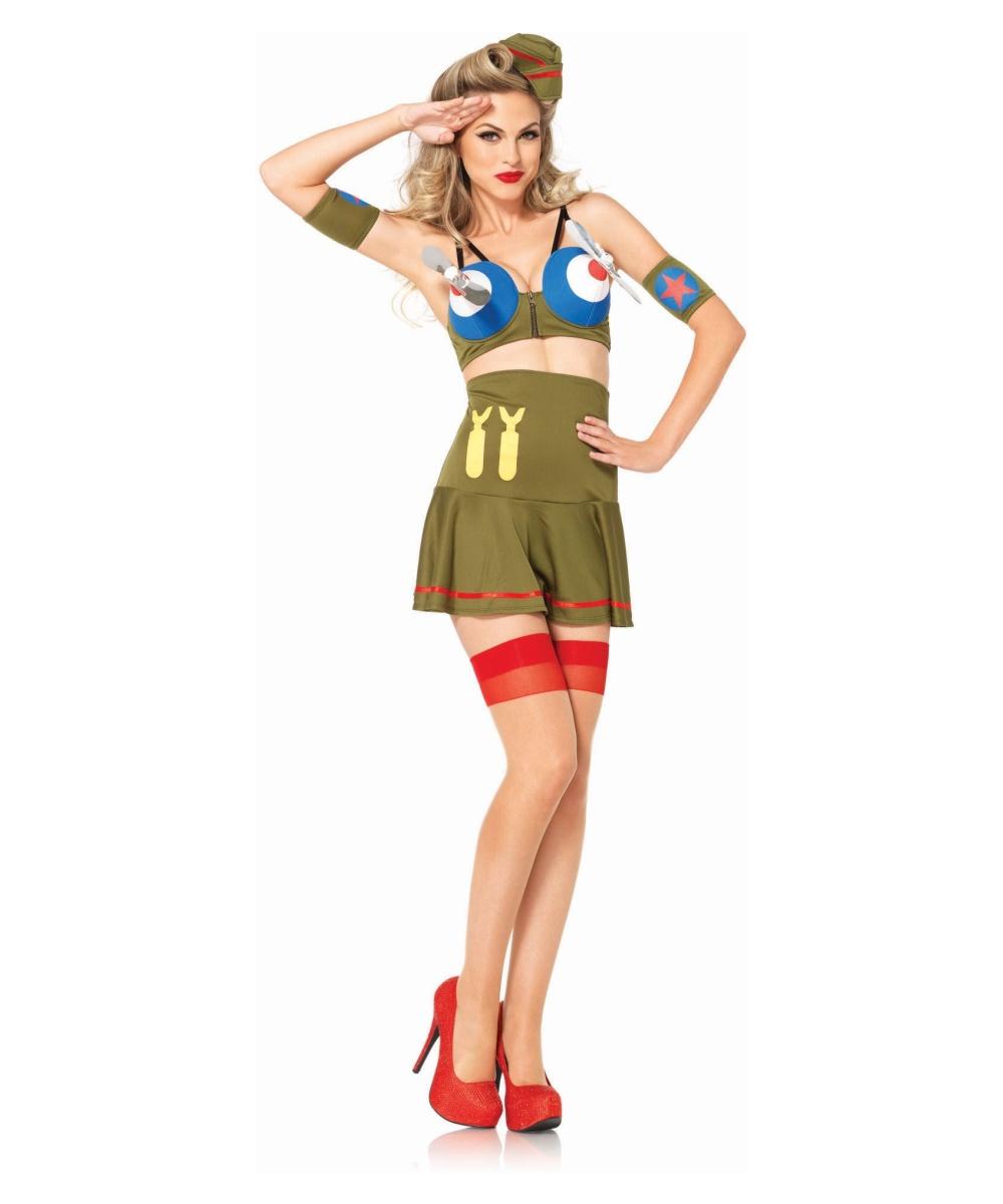 Bomber Pin - up Girl Womens Costume