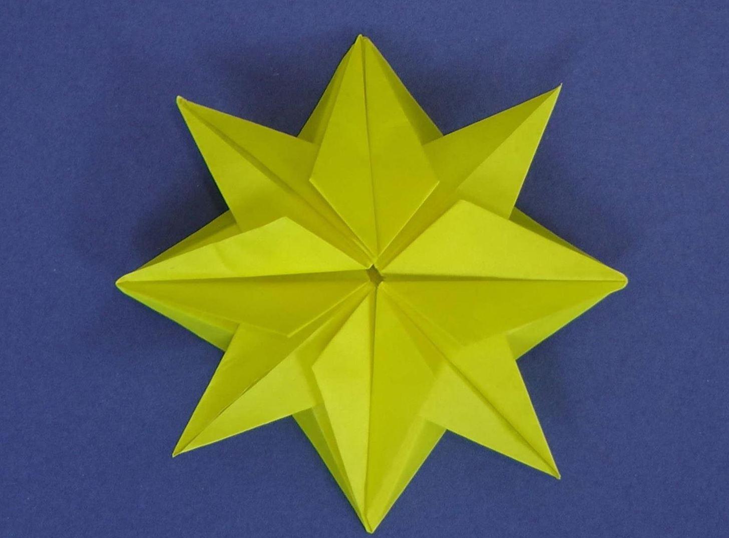 Intermediate Origami Christmas Tree Diagram