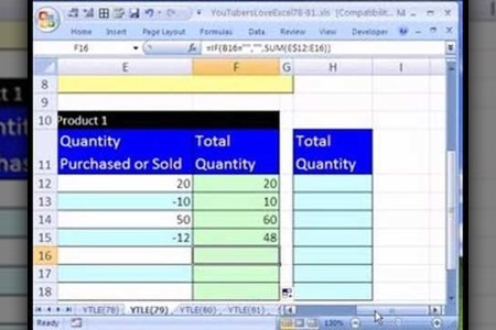 How to Create an Excel inventory template with running totals     How to Create an Excel inventory template with running totals      Microsoft  Office    WonderHowTo