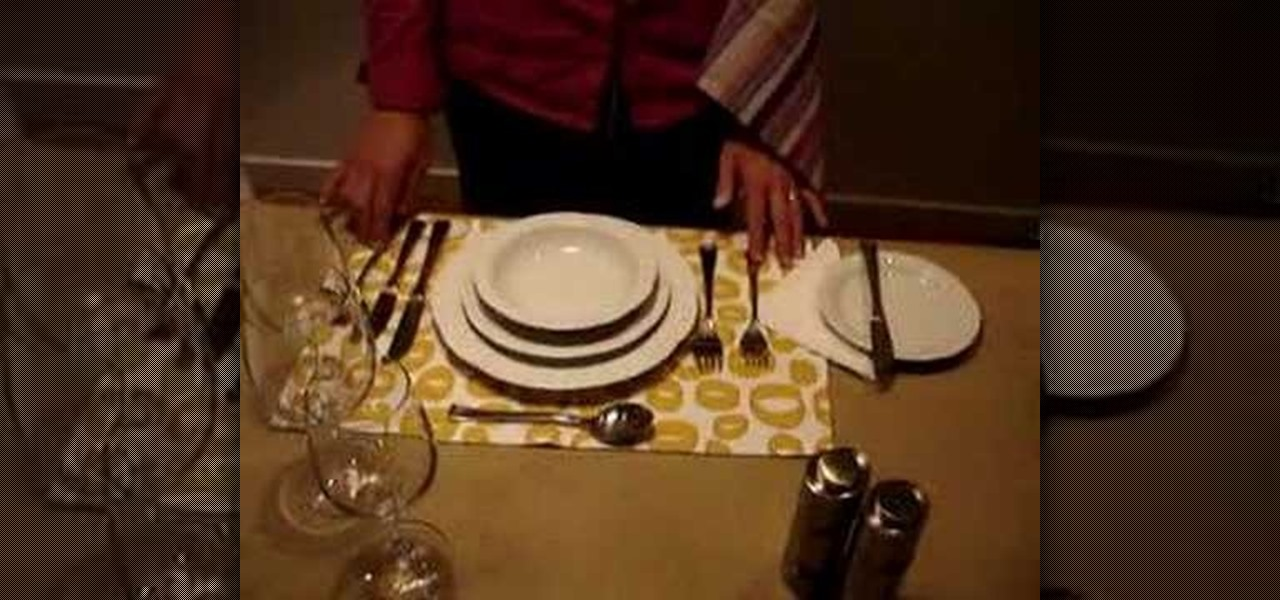 Properly How Dinner Table Set