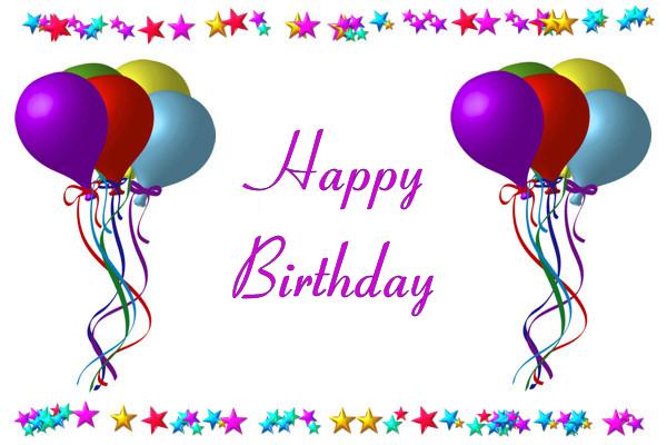 Birthday Balloons Robin Happy