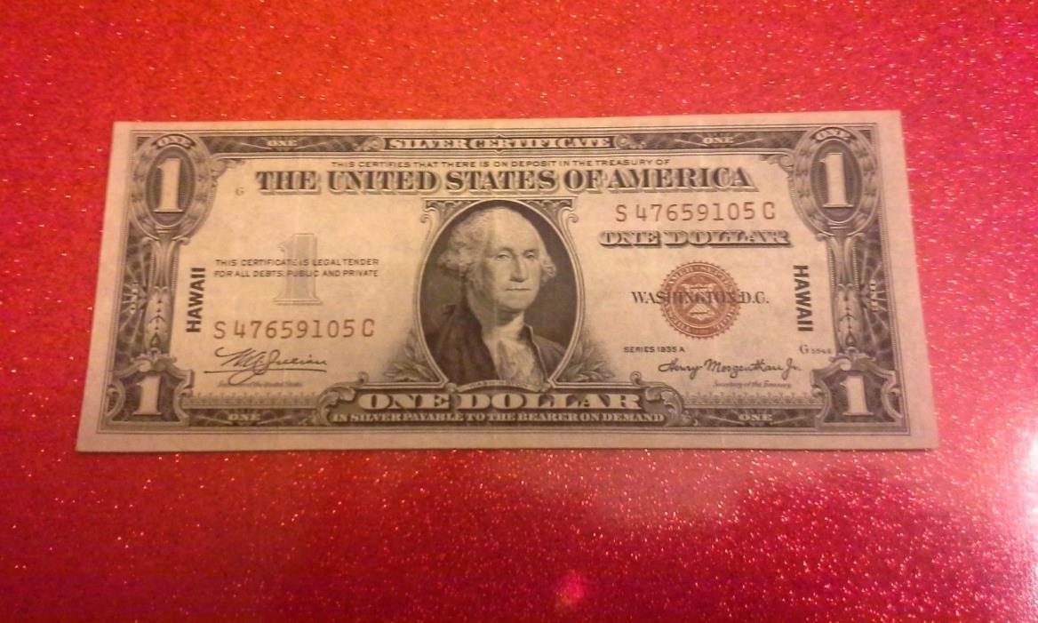 1935a Silver Certificate Dollar