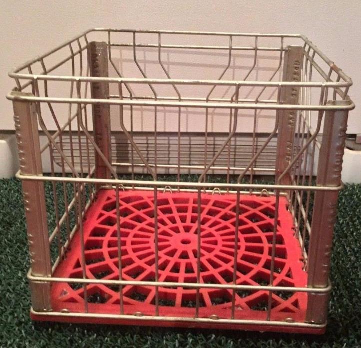 Vintage Metal Milk Crates Sealtest 5 66