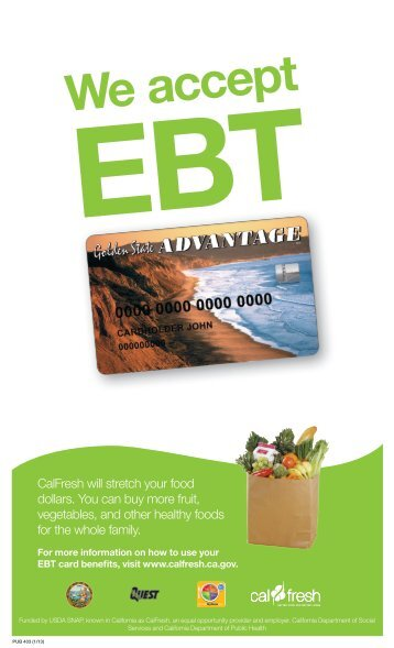 Buy I Ebt Can Calfresh Card What