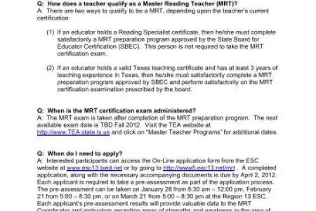 Free Professional Resume » region teacher certification ...