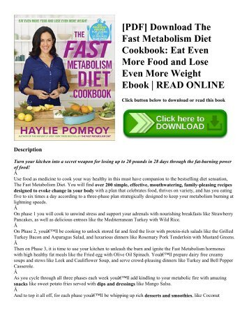 best Haylie Pomroy Fast Metabolism Diet Pdf Download image collection