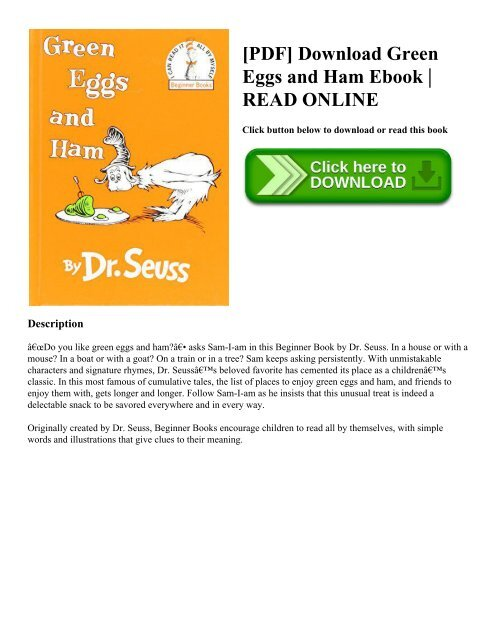 green eggs and ham pdf # 8