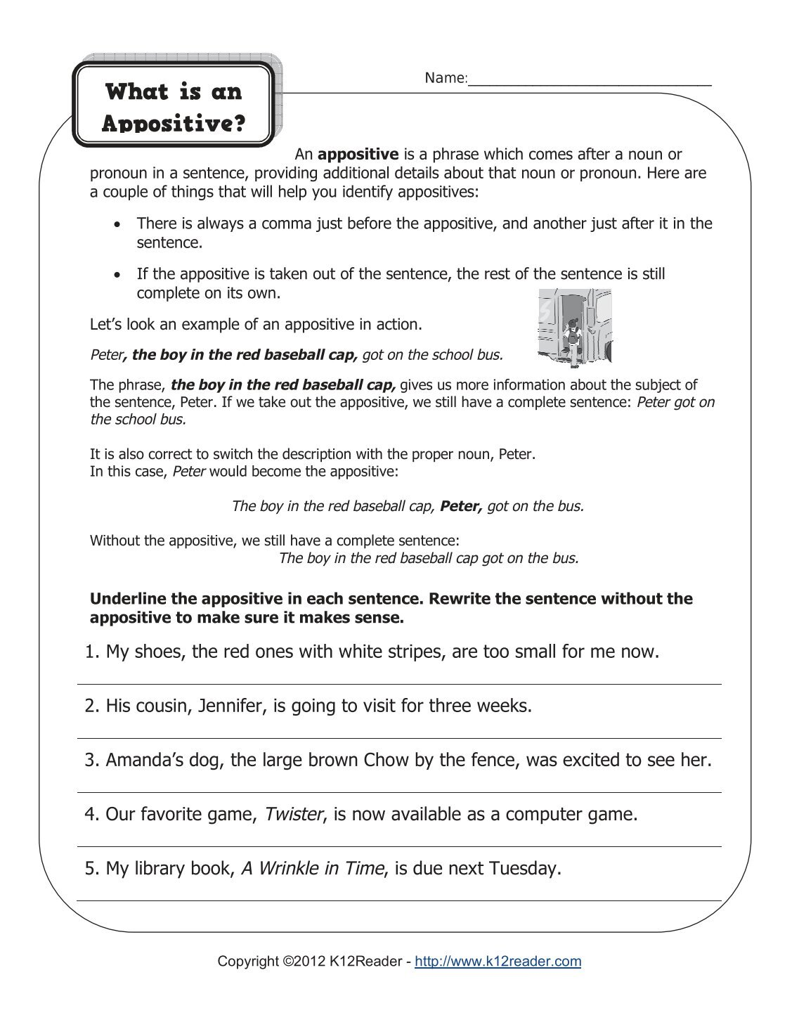 worksheet Appositive Practice Worksheet indirect object worksheet free worksheets library download and w ksheet direct objects mytourvn study site