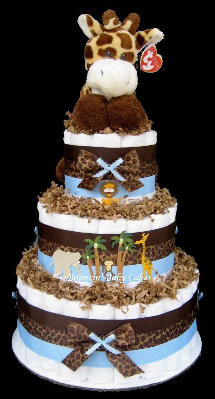 Safari Baby Shower Diaper Cake