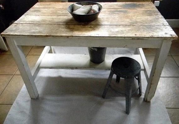 Vintage Fresh Early 1900s Farmhouse Table Or Kitchen Island