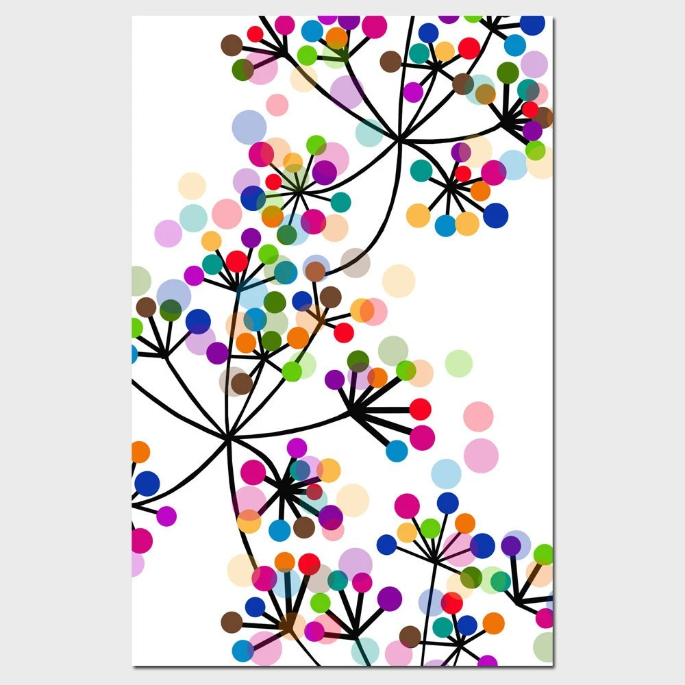 Modern Colorful Botanical 11x17 Large Print Original