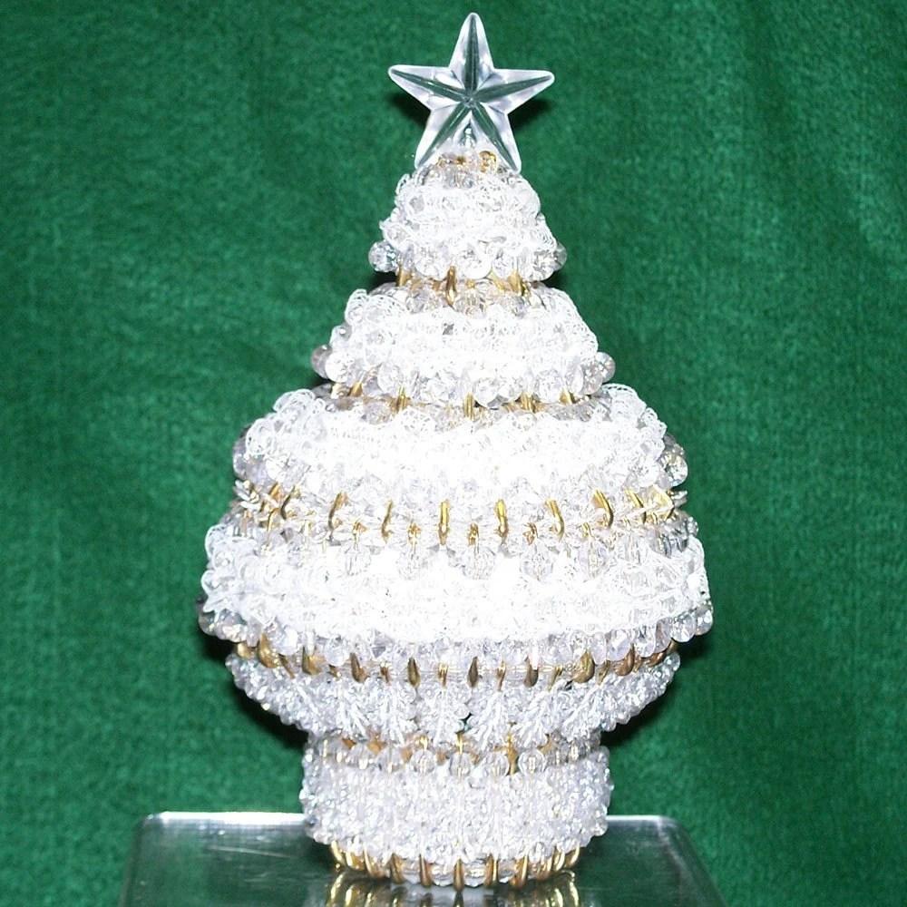 Safety Pin Beaded Christmas Tree