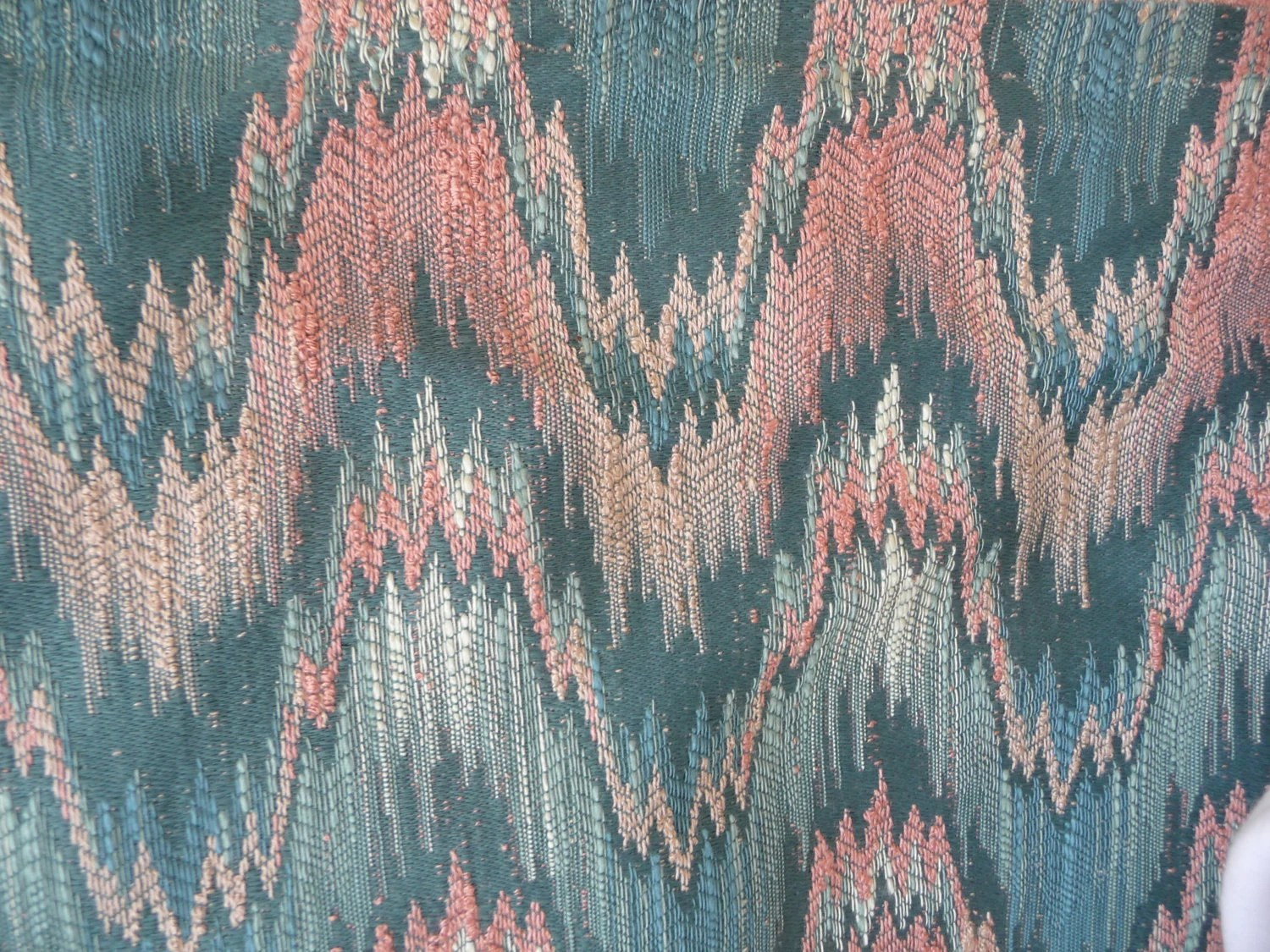 Flame Stitch Upholstery Fabric