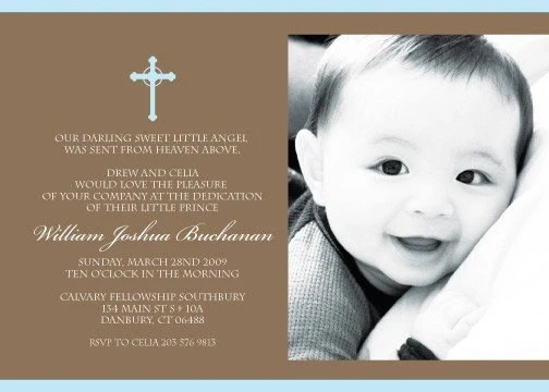 Print Your Own Christening Invitations