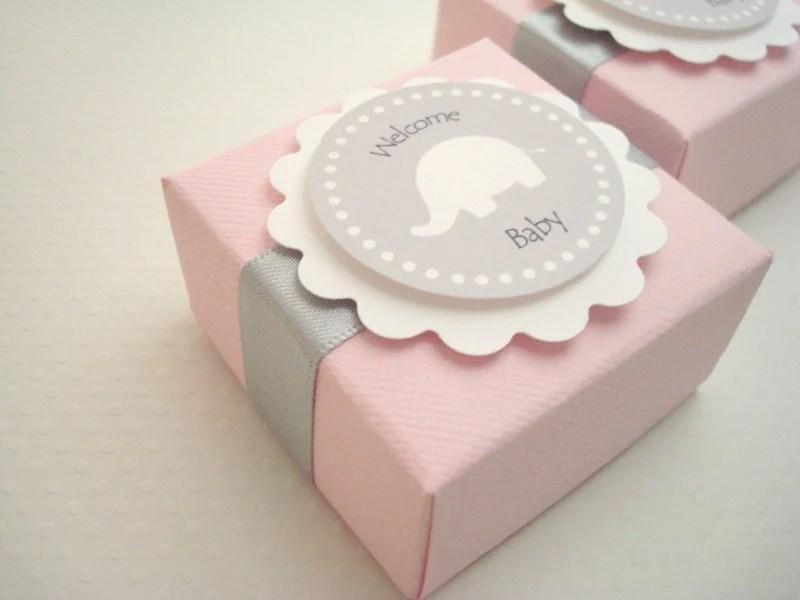Favor Box Elephant Theme