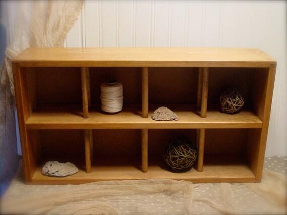 Vintage Wood Wine Box Napa Valley Storage Cubby