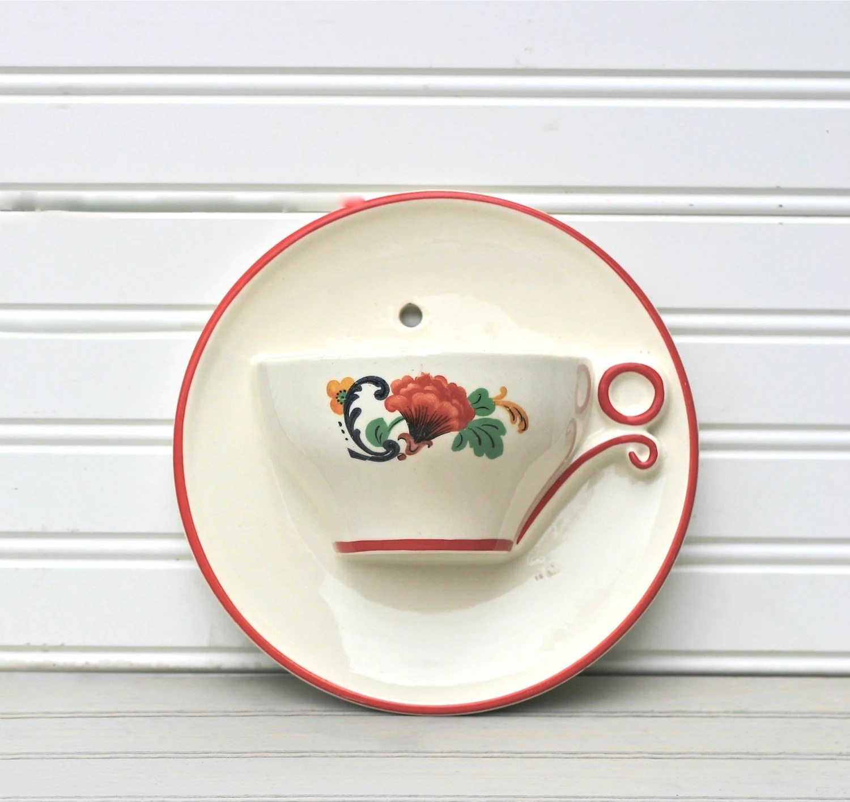 Pocket Vase Wall Ceramic White