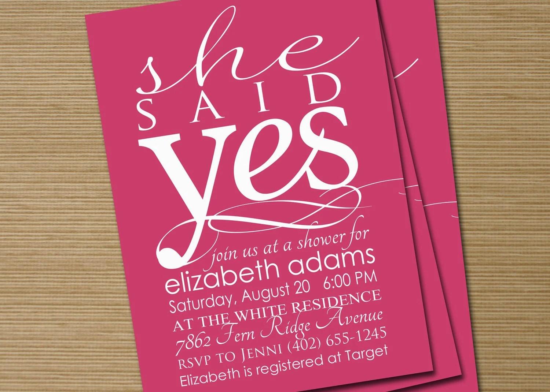 Bridal Shower Invitations Etsy
