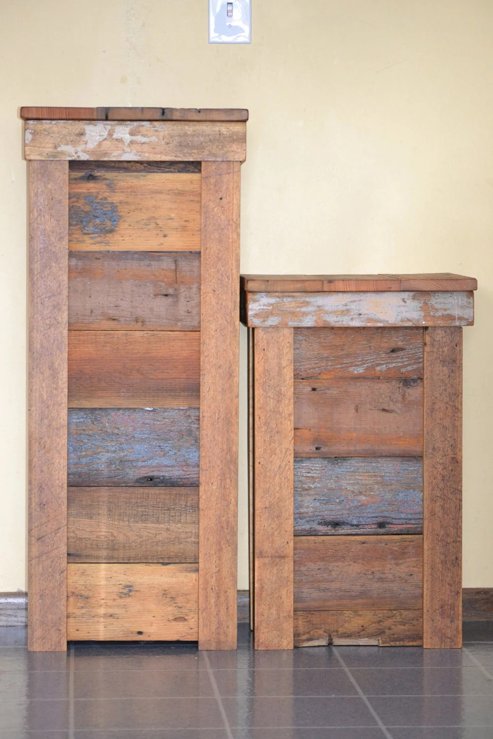 Large Rustic Garbage Can By Oftheforestgifts On Etsy