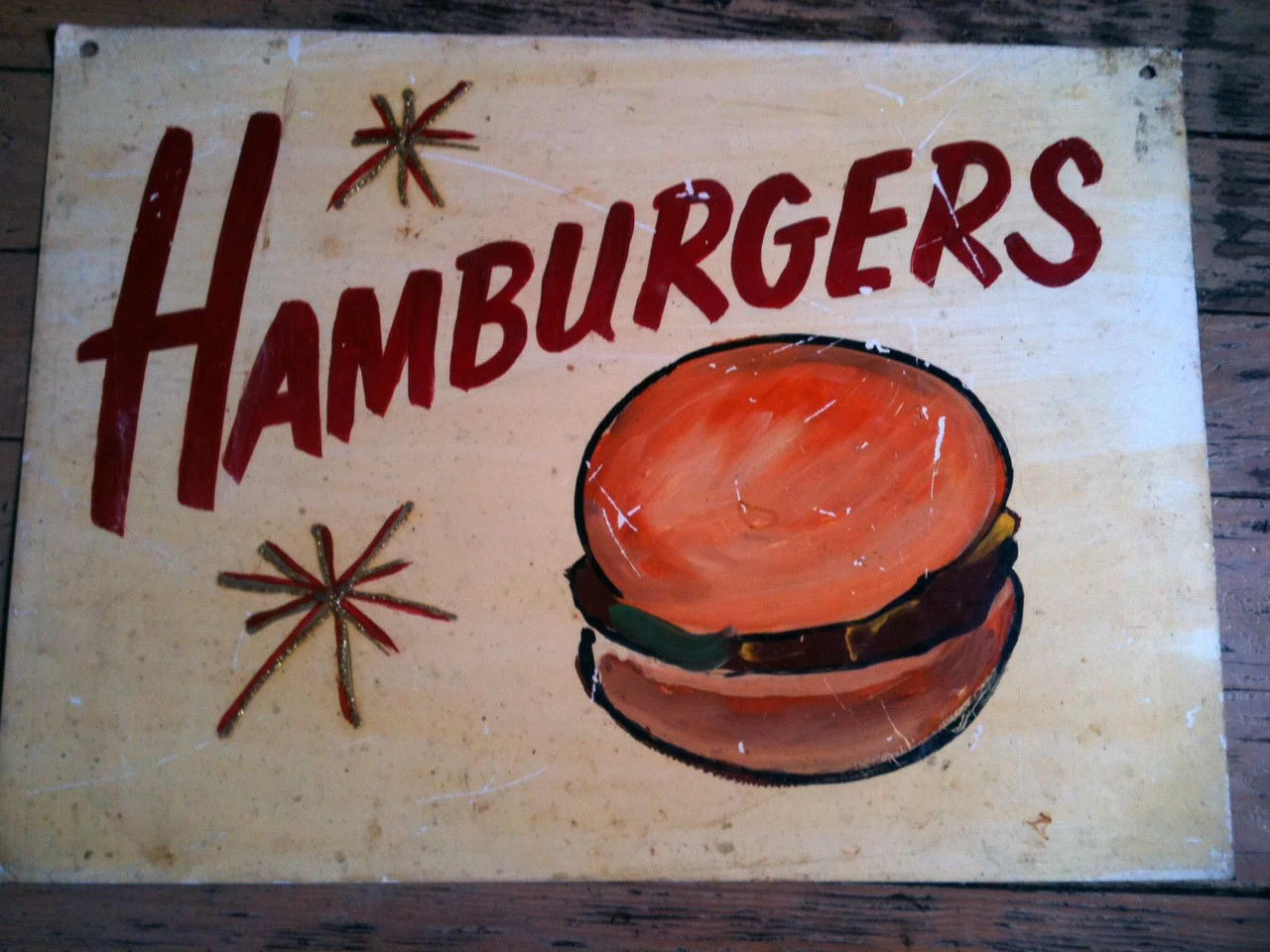 Vintage Hand Painted Carnival Food Sign by invisiblebklyn ...