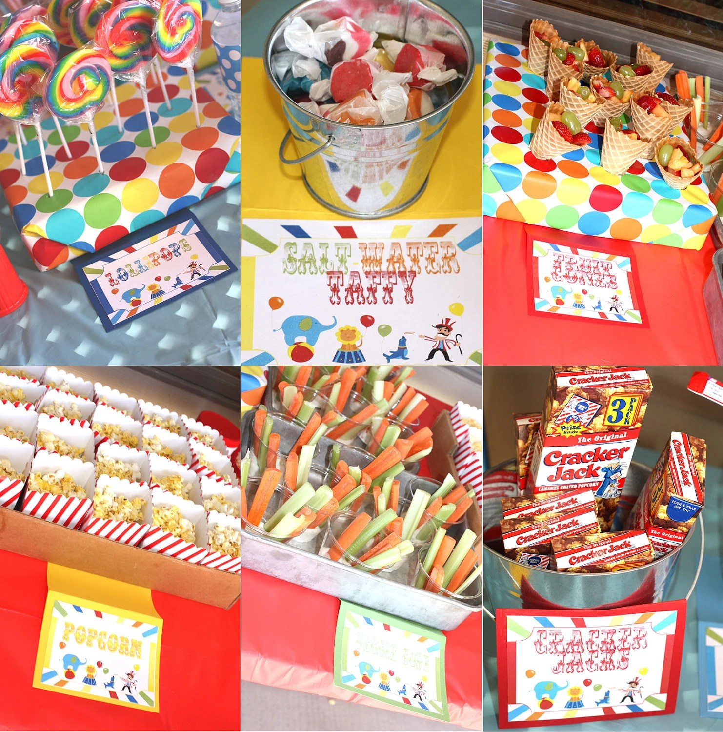 Carnival Birthday Party Signs Circus Signs Games sign Prizes