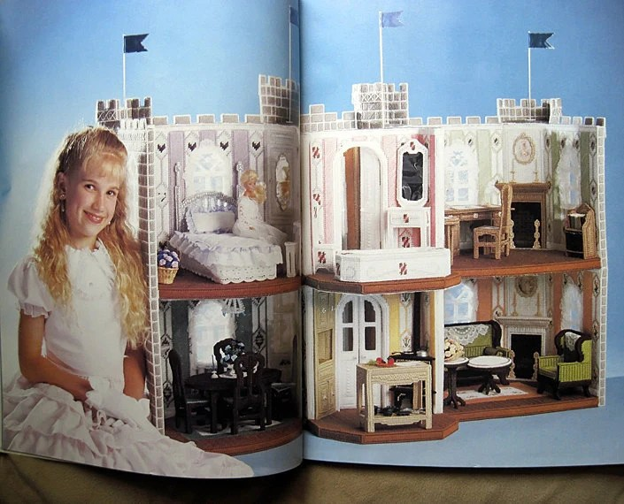 Fashion Doll Dream Castle Plastic Canvas Pattern The