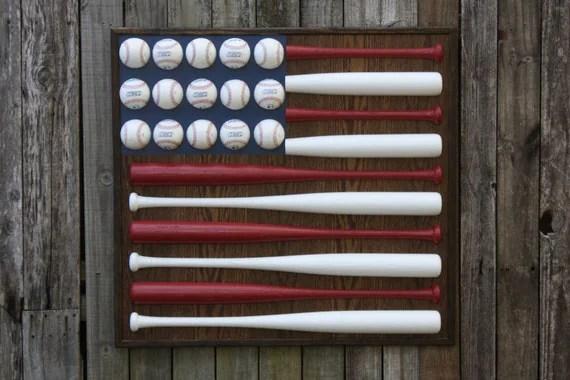 American Flag Baseball Bat