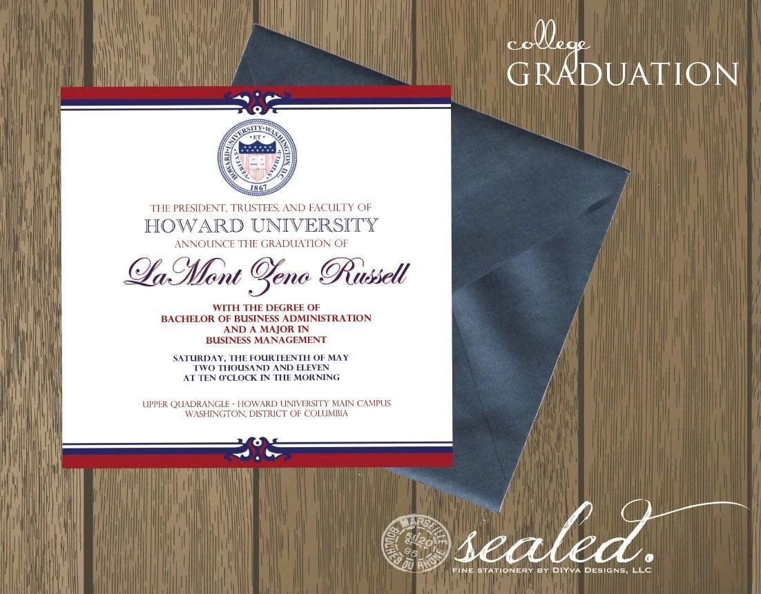 Custom Printed Graduation Announcements
