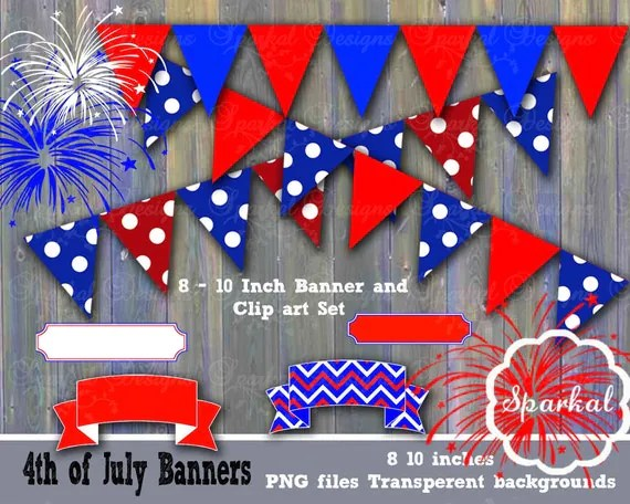 Items Similar To 4th Of July Clipart Fourth Of July