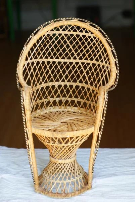 Sale Vintage Miniature Peacock Chair Planter By