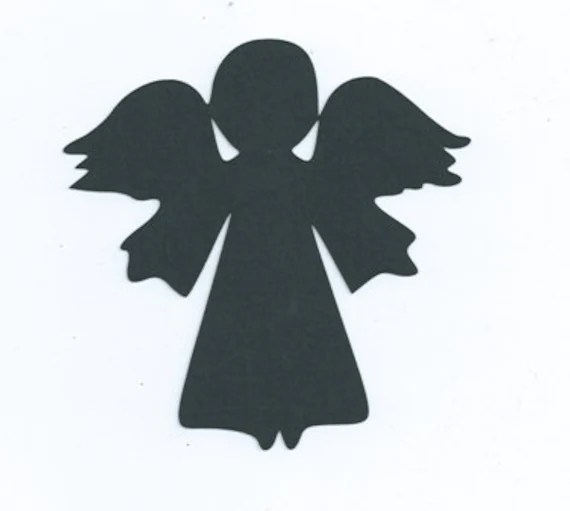Items similar to Little angel silhouette set of 6 on Etsy
