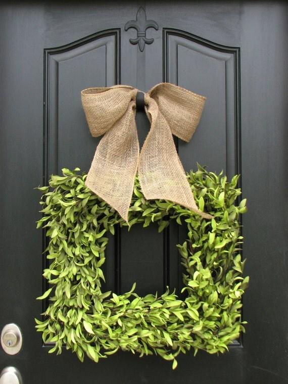 Wreaths Boxwood Wreath Square Wreath Summer Decor