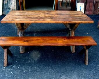 Crossbuck Leg Picnic Table