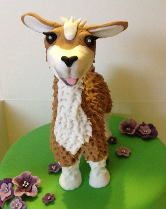 Llama Cake Topper Edible Fondant Icing By Charmedcreationscake