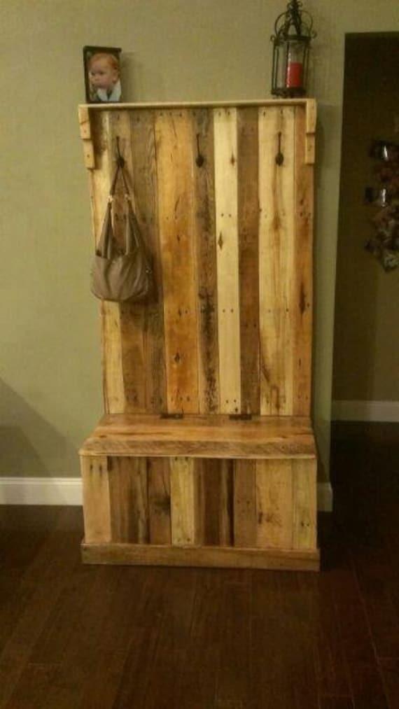 Items Similar To Handmade Reclaimed Pallet Wood Hall Tree