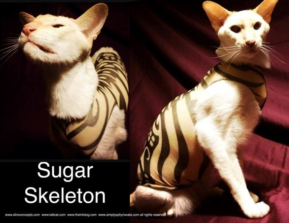 Sphynx Cat Clothes Sugar Skeleton Tattcat™ Chinese Crested Dog