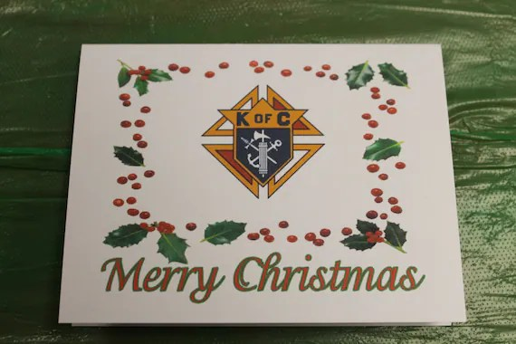 Knights of Columbus Christmas Note Cards by OlsenEnterprises