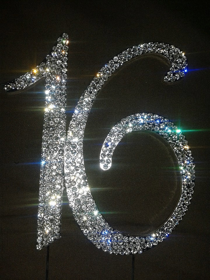 Monogram Sliver Bling Letters Or Numbers With Rhinestones