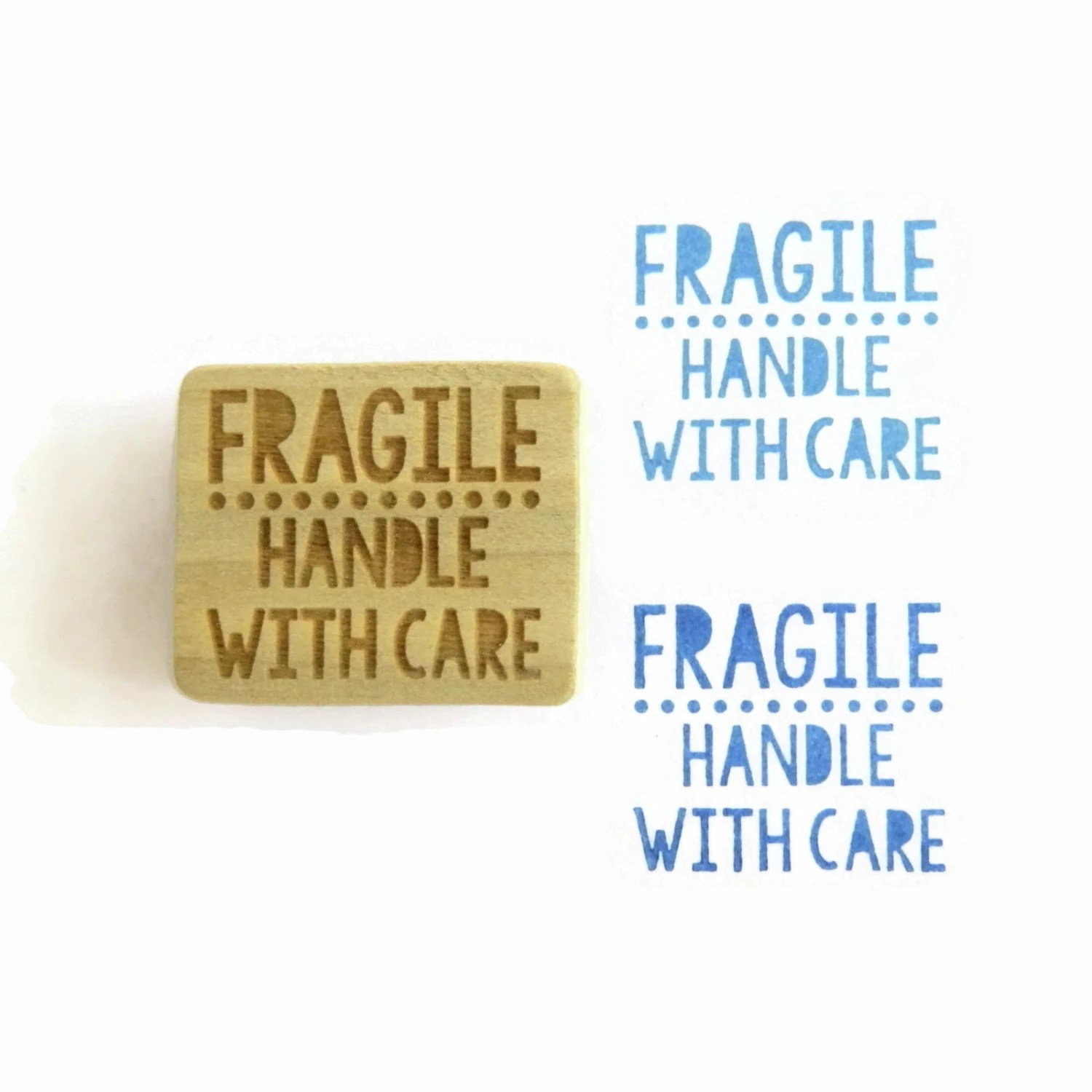 Fragile Handle With Care Stamp Wood Mounted Rubber by ...