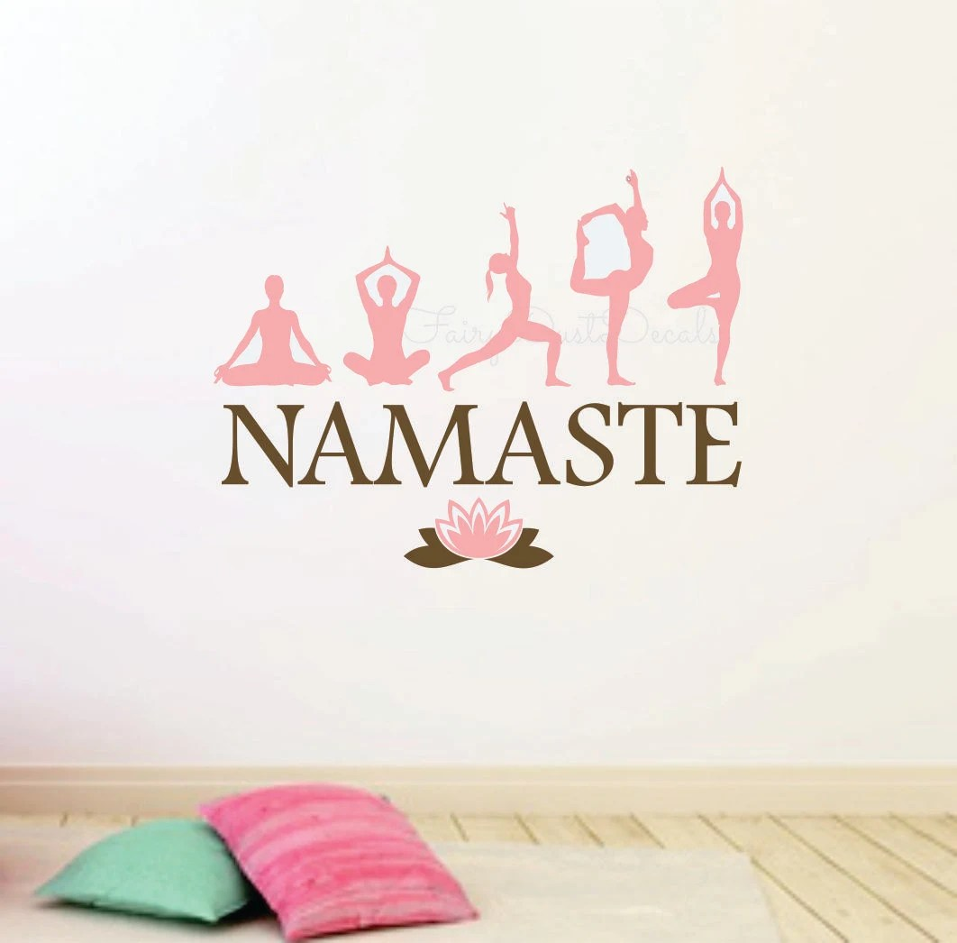 Yoga Namaste wall decal Yoga decal wall lettering Inner