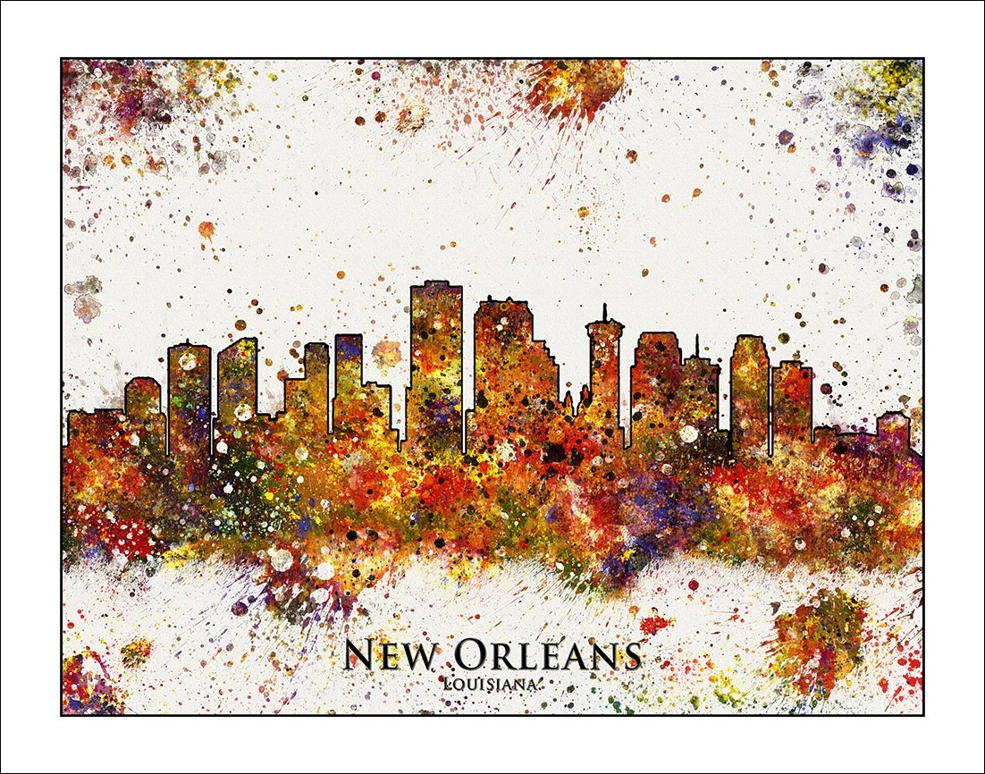 NEW ORLEANS Skyline New Orleans Map of New Orleans