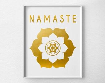 Namaste Print Namaste Art Yoga Print Yoga Studio Decor by ...