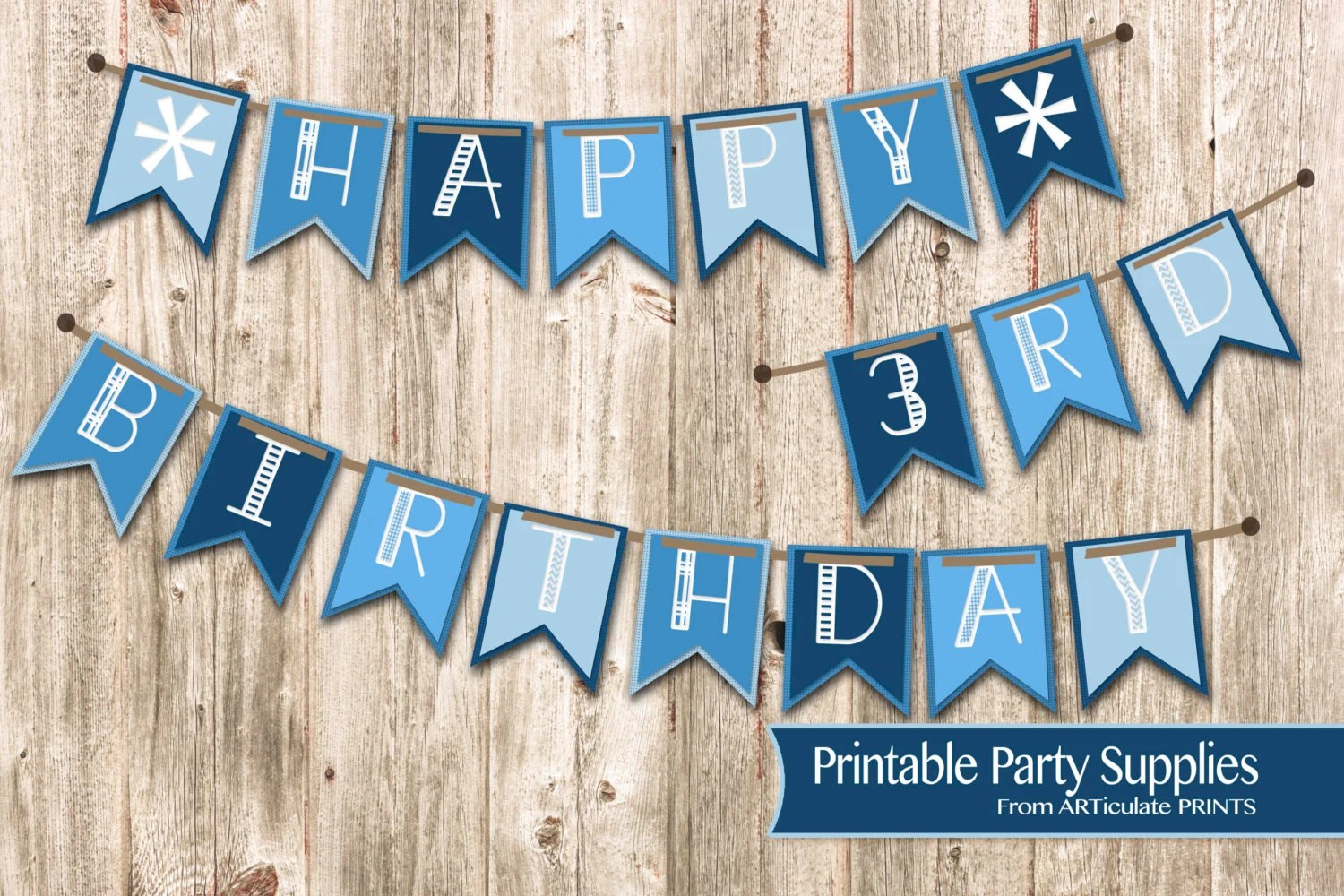 Baby Boys Happy Birthday Banner Baby Boy Printable Party