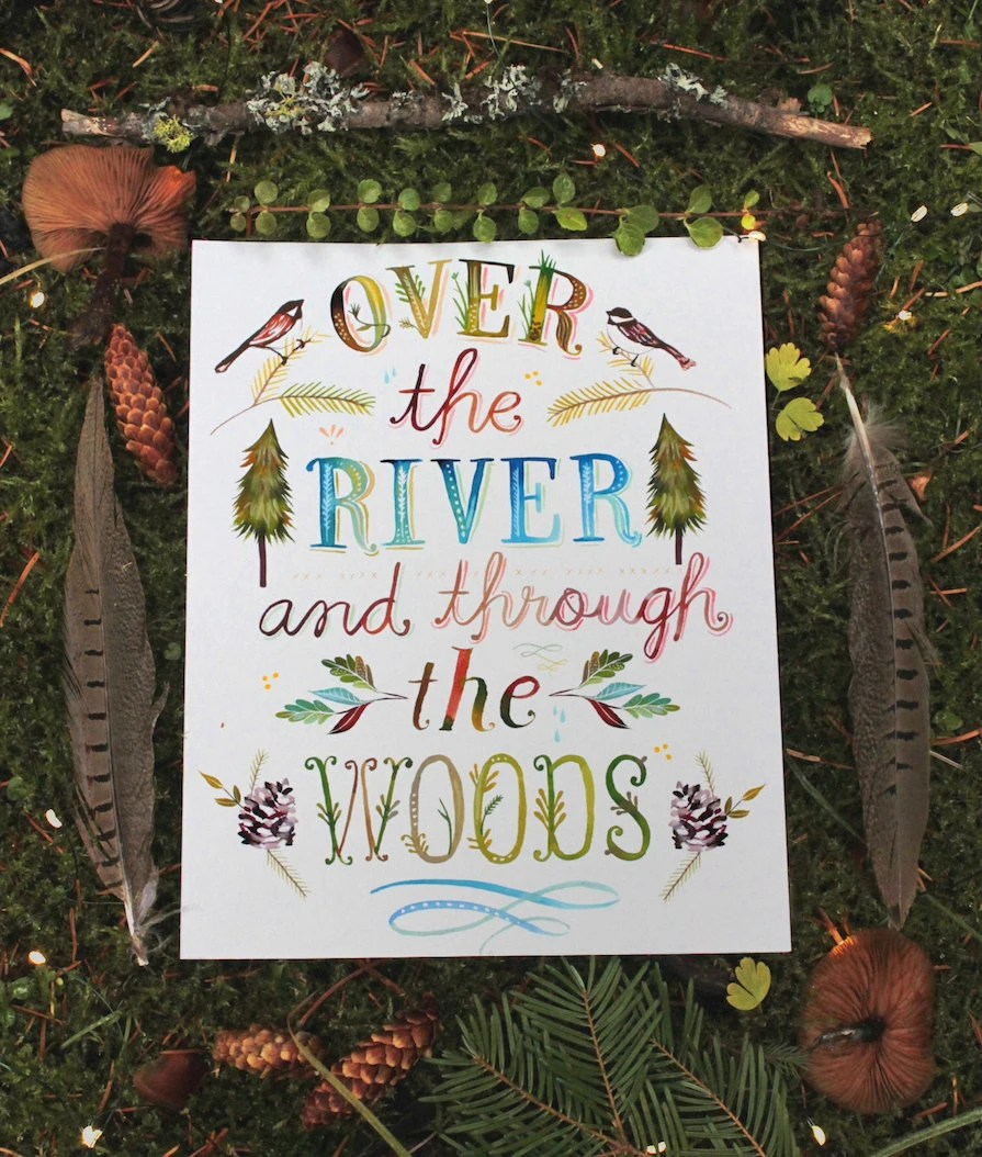 Over The River and Through The Woods paper print by ...