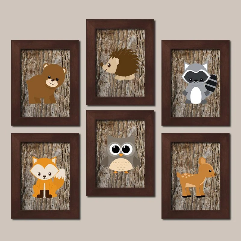 Woodland Nursery Decor Woodland Wall Art Woodland Nursery