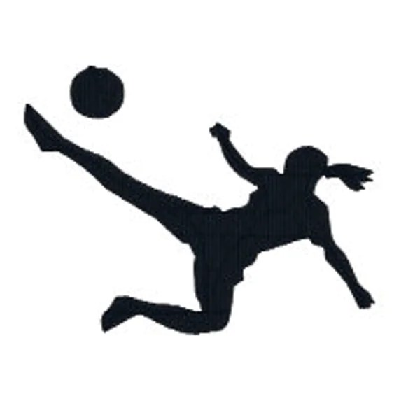BUY 2 GET 1 FREE Girl Soccer Player 2 Silhouette Machine