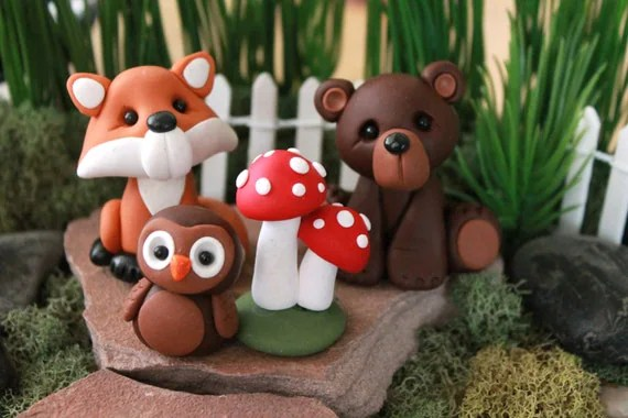 Forest Animals Cake Toppers Animal Cake Topper Birthday